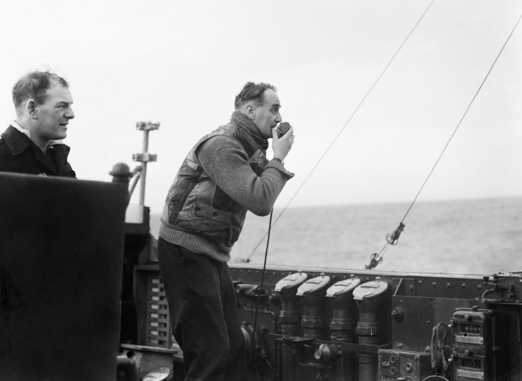 Captain John Walker, renowned convoy commander in action during the Battle of the Atlantic