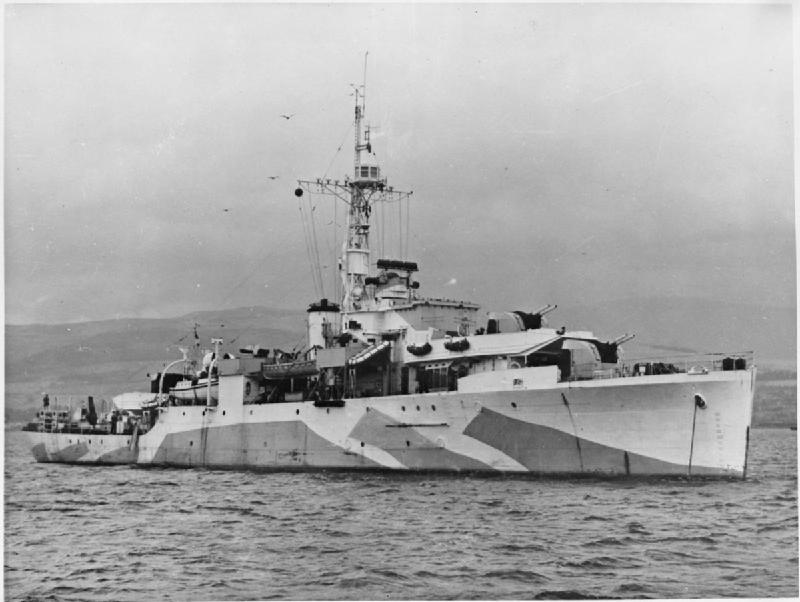 HMS Amethyst a Flower Class Corvette used by Britain and Canada in the Battle of the Atlantic