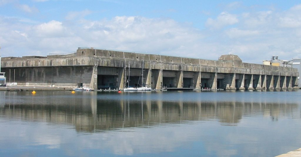 German U-boat pens for the Battle of the Atlantic at Saint Nazaire in France
