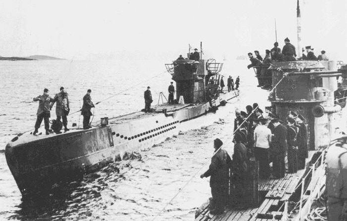 Type VII u-boat, the most commonly used in the Battle of Britain